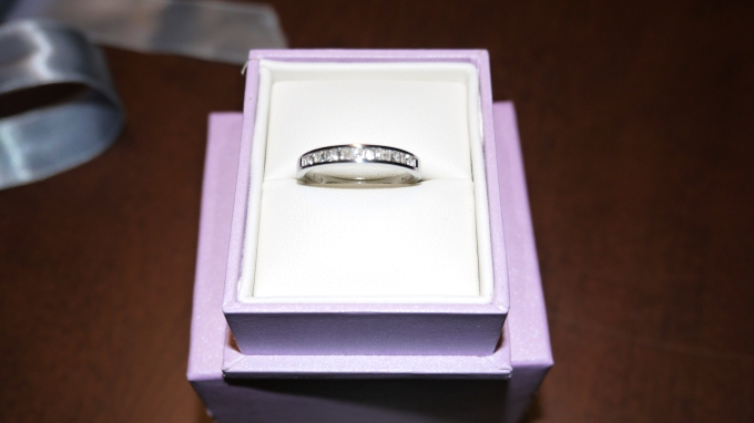 Our version of an engagement ring!