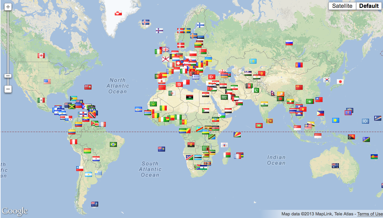 Google Maps Katsuya Locator Map Flag: World Map – New Countries & Regional Flags