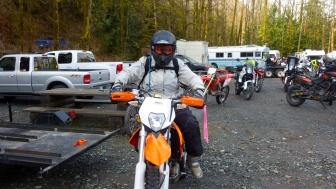 female dirt biker
