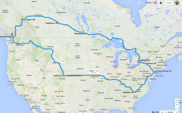 2014 Cross Country Trip