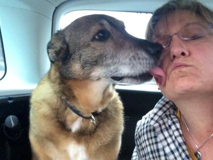 Sierra LOVED to kiss everyone
